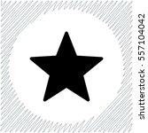 star vector icon   black ... | Shutterstock .eps vector #557104042