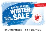 winter sale banner  vector... | Shutterstock .eps vector #557107492