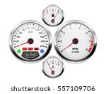 car dashboard. speedometer ... | Shutterstock . vector #557109706