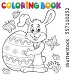 coloring book easter rabbit... | Shutterstock .eps vector #557110252