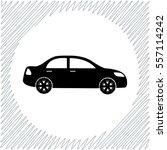 car vector icon   black ... | Shutterstock .eps vector #557114242