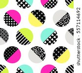 cute 80's style seamless... | Shutterstock .eps vector #557114692