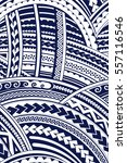 maori style tattoo tribal... | Shutterstock .eps vector #557116546