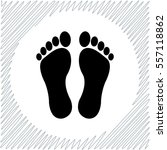 footprints vector icon   black  ... | Shutterstock .eps vector #557118862