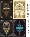 premium quality cards set.... | Shutterstock .eps vector #557122678