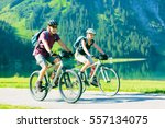 Cycling Seniors in Austria - stock photo