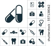 pill icon black on white... | Shutterstock .eps vector #557138062