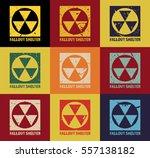 fallout shelter. vintage... | Shutterstock .eps vector #557138182