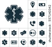 life star snake icon  medical... | Shutterstock .eps vector #557140342