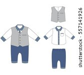 baby cloths  baby boy outfit ... | Shutterstock .eps vector #557141926