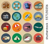 colored round vintage travel... | Shutterstock .eps vector #557150356