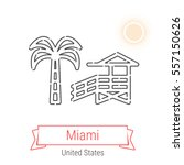 miami  united states  flat...   Shutterstock .eps vector #557150626