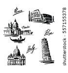 hand drawn vector illustration... | Shutterstock .eps vector #557155378