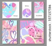valentine s day creative...   Shutterstock .eps vector #557157586