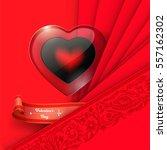 valentine's day background. red ... | Shutterstock .eps vector #557162302