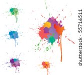 five vector colorful stains | Shutterstock .eps vector #55716511