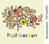 fruit tree background | Shutterstock .eps vector #55716592