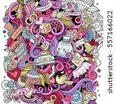 cartoon cute doodles hand drawn ... | Shutterstock .eps vector #557166022