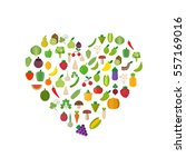 love isolated vegetables set ... | Shutterstock .eps vector #557169016