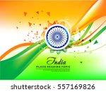 abstract happy indian republic... | Shutterstock .eps vector #557169826