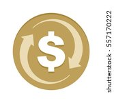 money cash back golden icon... | Shutterstock .eps vector #557170222