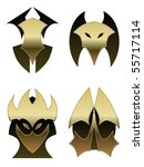 four demon shields   raster | Shutterstock . vector #55717114