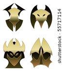 four demon shields   raster | Shutterstock . vector #55717114