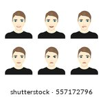 young man face expressions... | Shutterstock .eps vector #557172796