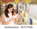 shopping   young woman holding... | Shutterstock . vector #55717438
