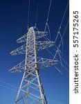 power transmission line in... | Shutterstock . vector #557175265