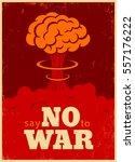 vector vintage poster  say no...   Shutterstock .eps vector #557176222