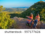 family travel with children ... | Shutterstock . vector #557177626