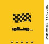 race car icon. | Shutterstock .eps vector #557179582