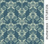Damask Seamless Pattern. Floral vintage wallpaper