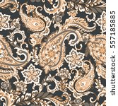 vintage floral seamless patten...   Shutterstock .eps vector #557185885
