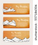 mountains banners set ... | Shutterstock .eps vector #557186506