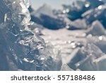 Blue Melting Ice Of Lake Baika...