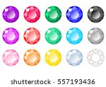 set of fifteen multi colored... | Shutterstock .eps vector #557193436