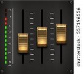 Sound Mixer Controller. Vector...