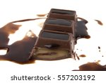 chocolate isolated on white... | Shutterstock . vector #557203192