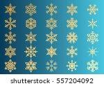snowflake vector icon... | Shutterstock .eps vector #557204092