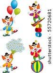 clown vector | Shutterstock .eps vector #55720681
