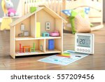 heating concept. child toy... | Shutterstock . vector #557209456