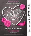 vector happy valentines day... | Shutterstock .eps vector #557218396