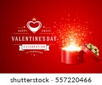 happy valentines day greeting...   Shutterstock .eps vector #557220466