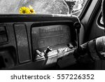 Yellow Daisies On Dashboard An...