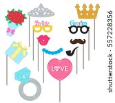 vector photo booth props for... | Shutterstock .eps vector #557228356