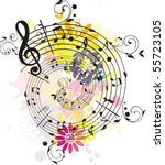 swirling colored melody each... | Shutterstock .eps vector #55723105