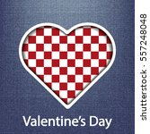 valentines day card  geometric...   Shutterstock .eps vector #557248048