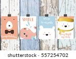 colorful collection for banners ... | Shutterstock .eps vector #557254702